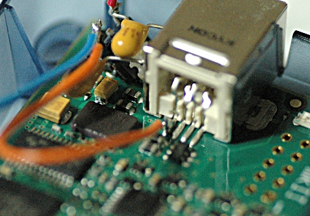 Connection from the 5V pin of the USB to the 3.3V voltage regulator